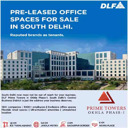 DLF Prime Towers offer banner